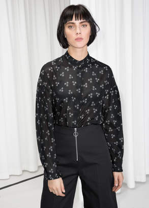 And other stories Sheer Pleated Blouse