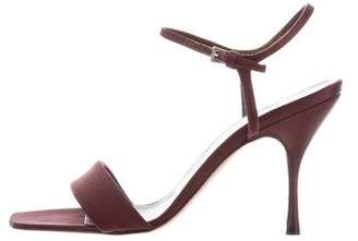 Prada Satin Square Toe Sandal