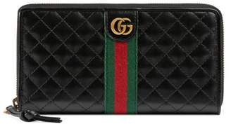 Gucci Leather zip around wallet with Double G
