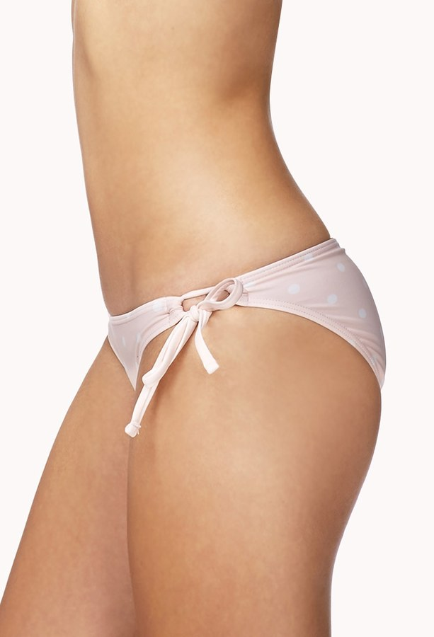 Forever 21 FOREVER 21+ Polka Dot Bikini Bottom