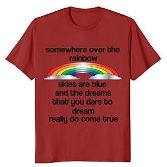 Rainbow T-Shirt-Some Where Over The Rainbow