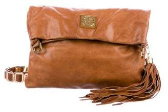 Tory Burch Louisa Leather Fold-Over Bag