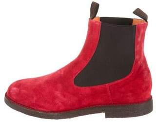 Santoni Suede Chelsea Boots w/ Tags