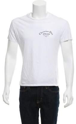 Christian Dior 2018 Atelier Woven Crew Neck T-Shirt