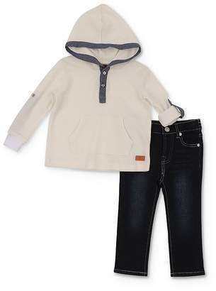 7 For All Mankind Boys' Hooded Henley Tee & Jeans Set - Little Kid