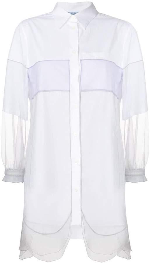 Prada sheer sleeve tunic