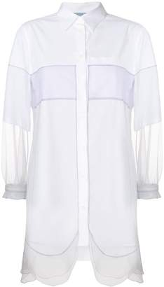 Prada sheer sleeve tunic