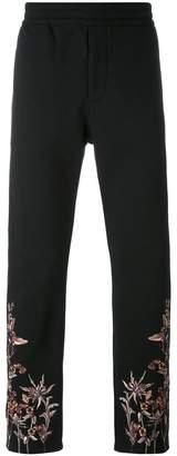 Alexander McQueen embroidered hem jeans