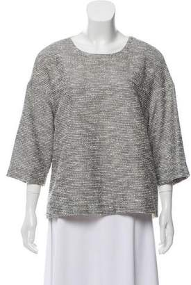 By Malene Birger Tweed-Accented Contrast Top