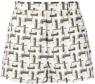 Equipment all-over pattern shorts
