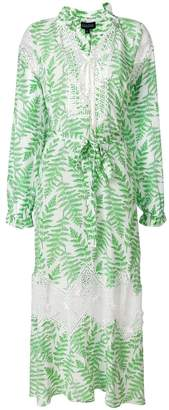 Saloni fern print summer dress