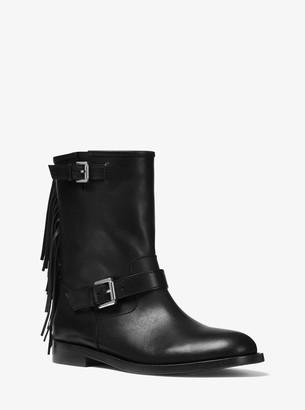Michael Kors Ingrid Fringed Leather Boot