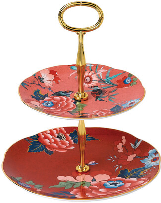 Wedgwood Paeonia Two Tier Cake Stand