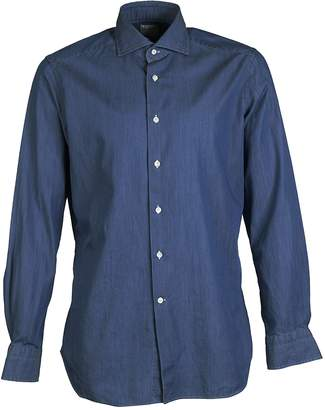Bagutta Long Sleeve Denim Shirt