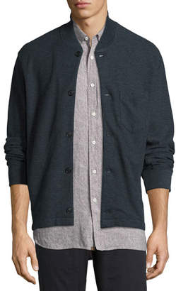 Billy Reid Henson Knit Shirt Jacket, Blue