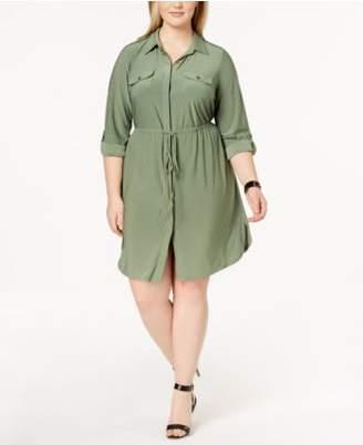 NY Collection Plus Size & Petite Plus Size Utility Shirtdress