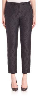 Max MaraMax Mara Textured Diamond Cropped Trousers