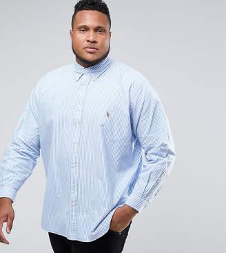 Polo Ralph Lauren Big & Tall Oxford Shirt In Light Blue Stripe