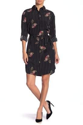 Como Vintage Belted Shirt Dress