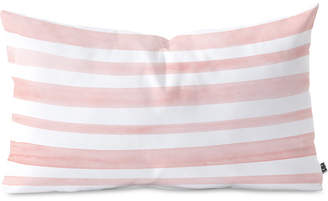 Deny Designs Kelly Haines Pink Watercolor Stripes Oblong Throw Pillow