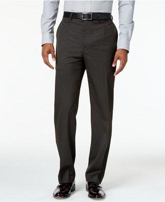 Sean John Men's Classic-Fit Brown Stripe Suit Pants $120 thestylecure.com
