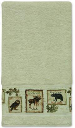 Bacova Lodge Memories Cotton Graphic-Print Bath Towel Bedding