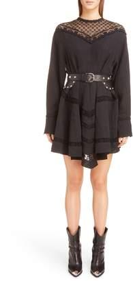 Isabel Marant Loko Lace Inset Linen Dress