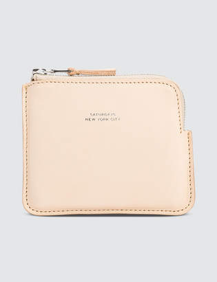 Saturdays NYC Cash Half Zip Wallet