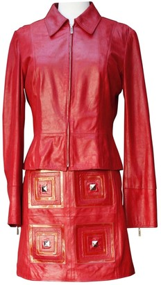 Paco Rabanne Red Leather Dresses