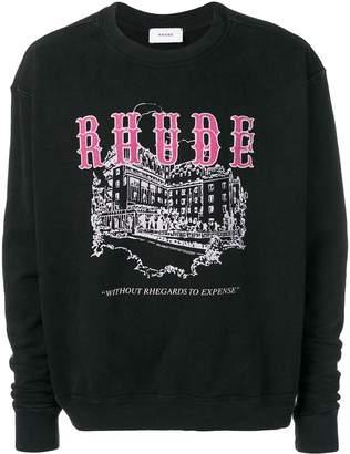 Rhude logo print sweatshirt
