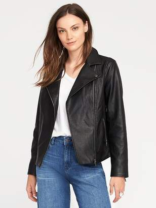 Old Navy Faux-Leather Moto Jacket for Women