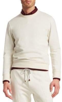 Brunello Cucinelli Spa Rib-Trimmed Sweatshirt