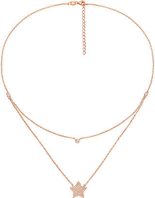 Folli Follie Fashionably rose gold-plated star necklace
