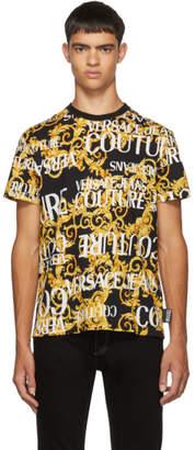 Versace Black All Over Barocco T-Shirt