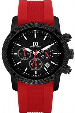 Danish Design (ダニッシュ デザイン) - デンマークデザインiq24q1020メンズクロノグラフブラックandレッドWatch