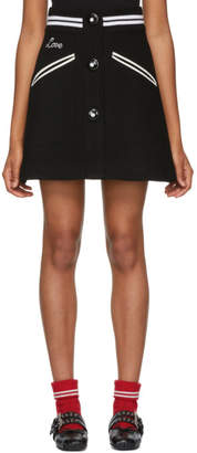 Miu Miu Black Buttoned Miniskirt