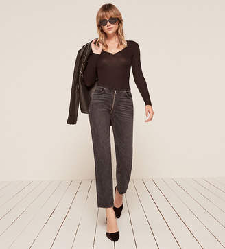 Reformation Zipper Jean