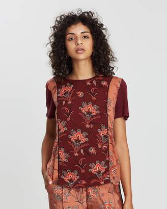 Scotch & Soda Mixed Print Short-Sleeved Top