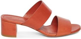 Mansur Gavriel Vegetable Tanned 40mm Double Strap Sandal
