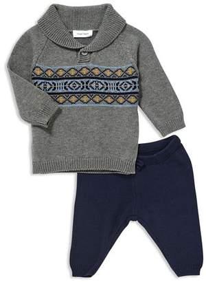 Angel Dear Boys' Shawl-Collar Sweater & Knit Pants - Baby