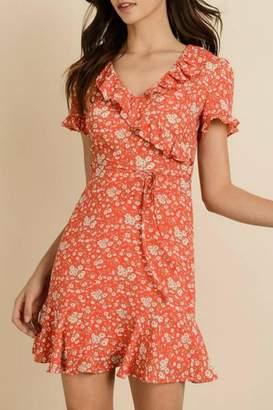 Dress Forum Floral Surplice Dress