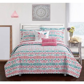 Chic Home Dai 7 Piece Reversible Bed in a Bag Quilt Cover Set