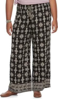 Mudd Juniors' Plus Size Wide-Leg Soft Pants