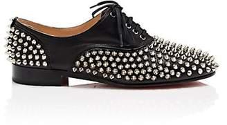 Christian Louboutin Women's Donna Leather Oxfords - Black, Silver
