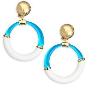 Alexis Bittar Lucite Dangling Split Hoop Earrings