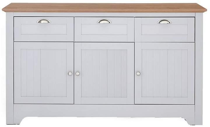 Devon Large Sideboard - Grey/Walnut-Effect