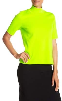 Diane von Furstenberg Short Sleeve Mock Neck Pullover