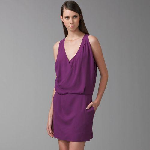 Chloe Drape Neckline Dress
