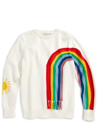 Girl's Stella Mccartney Kids Pumpkin Rainbow Sweater $110 thestylecure.com
