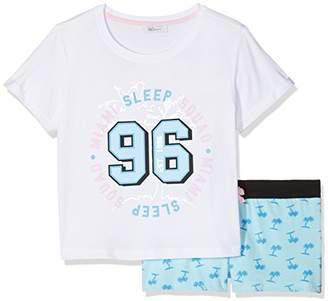 199c326910 New Look 915 Girl s Miami Palm Short Regular Fit Pyjama Sets